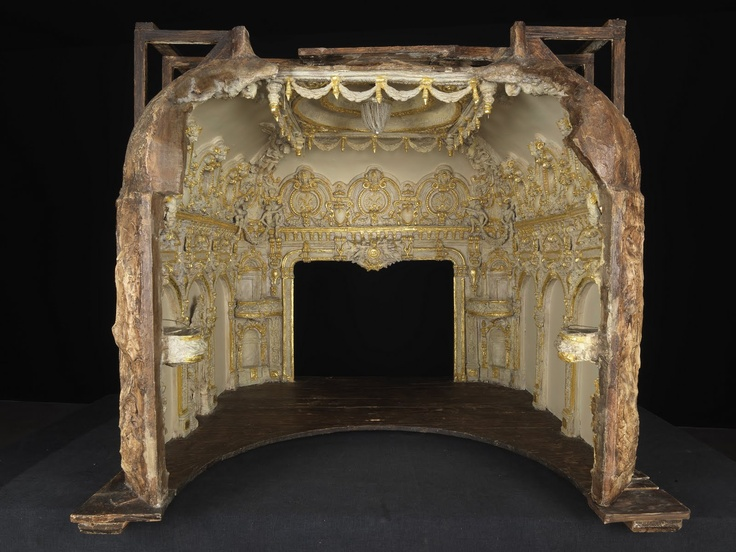 Model of the Salle Garnier Opera de Monte Carlo. Ca 1878 - Charles Garnier (1825-1898) - Model polychrome and gilded plaster, wood, cardboard, metal and fabric - Monaco, Société des Bains de Mer