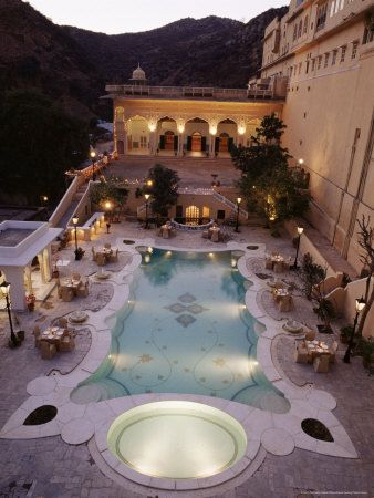 Samode Palace Hotel, India. The most fairytale style hotel I ever stayed in with a group.