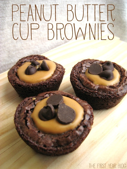 Peanut Butter Cup Brownies - The First Year Blog #Brownies