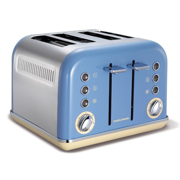 Cornflower Blue Accents Traditional Toaster