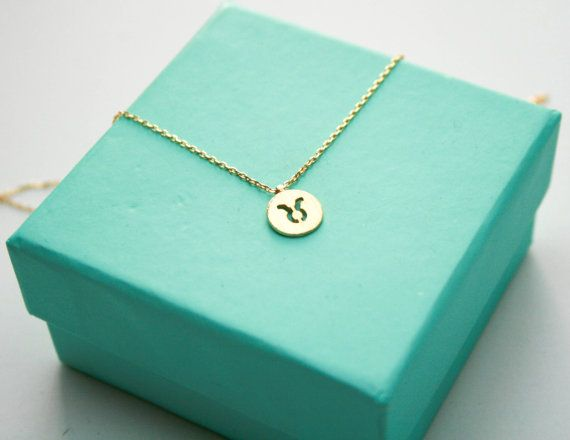 Taurus necklace  Hey, I found this really awesome Etsy listing at https://www.etsy.com/listing/222424170/gold-taurus-zodiac-sign-necklace-dainty