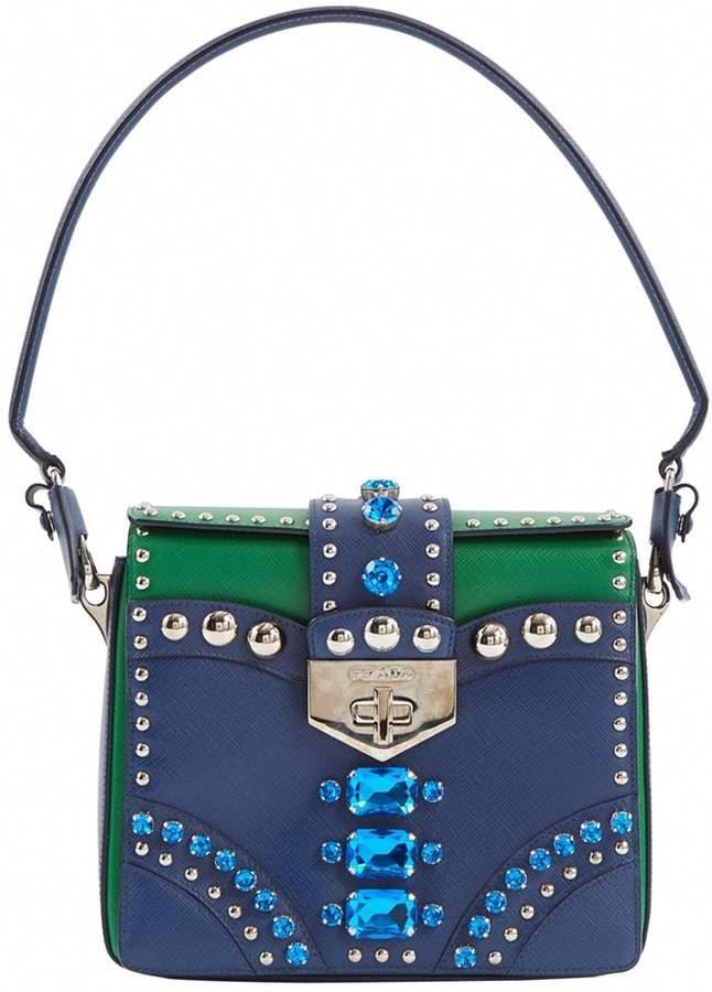 c649b41cb Prada Blue Leather Handbag #Pradahandbags | Handbags! | Leather ...