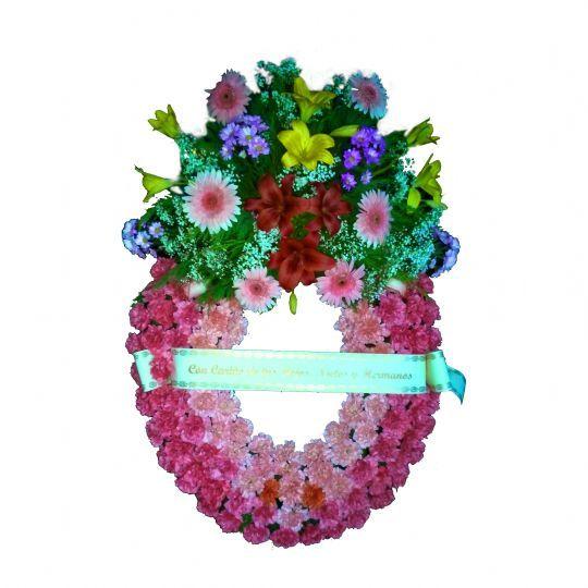 Enviar de coronas de flores funerarias baratas a los tanatorios
