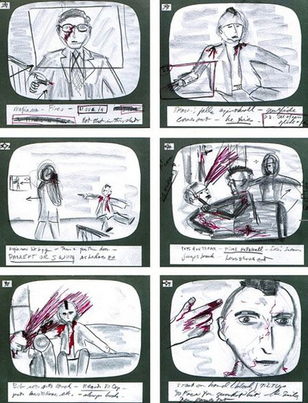 scoresese's storyboard for taxi driver
