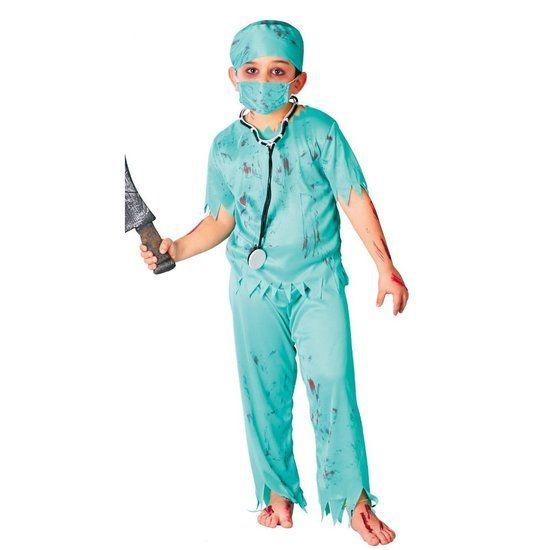 Zombie chirurg kostuum kind #zombie #zombiepak