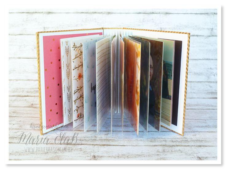 Minialbum für Fotos mit Washi Tape-Bindung nach einer Anleitung von Mel · Kreativsüchtig  #minialbum #iam in love #washi #fotolovestory