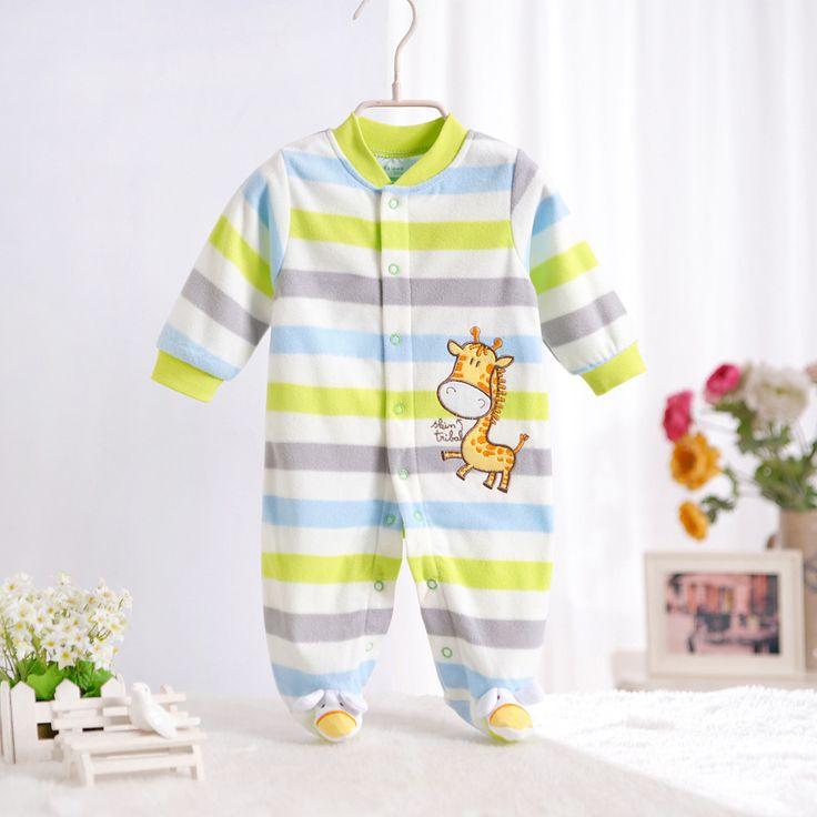 Pagliaccetti del bambino 2017 nuovo modello fleece infantile ragazzo e una ragazza corpo vestito ropa de bebe del bambino della tuta abbigliamento neonato vestiti