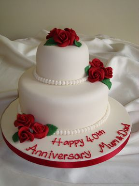 Ideas for 40th wedding anniversary cakes