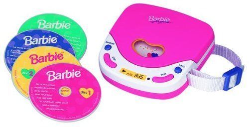 Barbie Sing With Me Pink Disc Girl CD Music Player Accessory Walkman Headphones  | eBay
