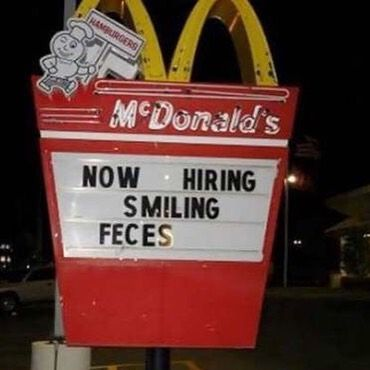 IT'S TRUE - typos make the world go around!! #typography #graphicdesign #fail #like #mcdonalds