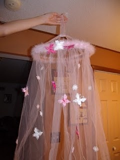 Butterfly Bed Canopy For A Little Girl's Bedroom
