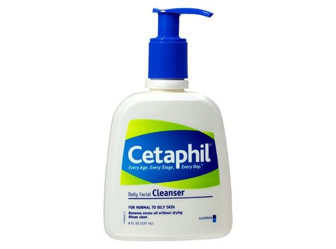 Cetaphil Daily Face Cleanser A dermatologist favorite for good reason, this gentle cleanser gets the job done without causing any irritation. The seven-dollar price tag is just an added bonus. Cetaphil ($7)