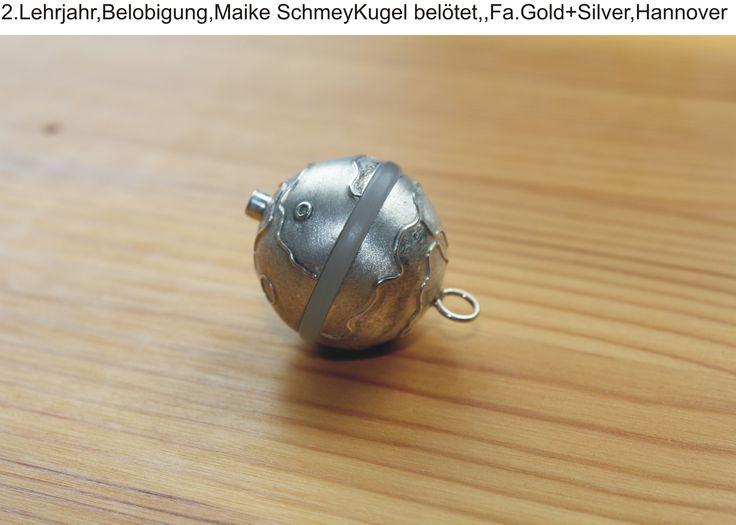 2.Lehrjahr,Belobigung,Maike SchmeyKugel belötet,,Fa.Gold+Silver,Hannover