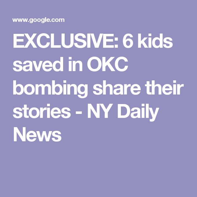 EXCLUSIVE: 6 kids saved in OKC bombing share their stories - NY Daily News