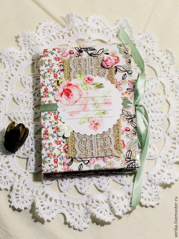 """Купить Блокнот ручной работы """"Нежность"""" - бледно-розовый, блокнот ручной работы…"""