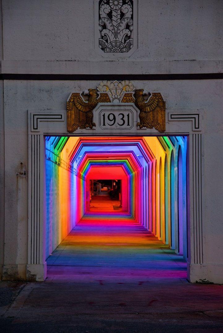 Spectacular Spectrum of Light in a Birmingham Underpass - My Modern Metropolis