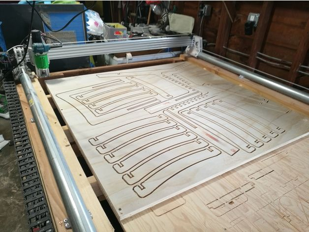 Plastic Monstrosity The 3d Printed Cnc For 4x8 Plywood By Spiffcow Thingiverse Cnc Furniture Plans Cnc Furniture 4x8 Plywood