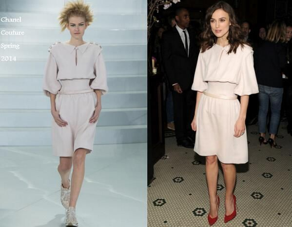 Keira Knightley In Chanel Couture - CHANEL Dinner 2014 Tribeca Film Festival Closing Night. Re-tweet and favorite it here: https://twitter.com/MyFashBlog/status/460318733907406848/photo/1