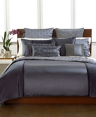 hotel collection finest velvet and silk panel bedding collection bedding collections bed u0026 bath macyu0027s