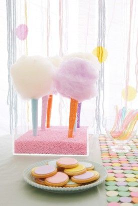 Cotton Candy Wedding Dessert Bar - Cotton Candy Wedding Inspiration - Johnny Miller via Bakerella