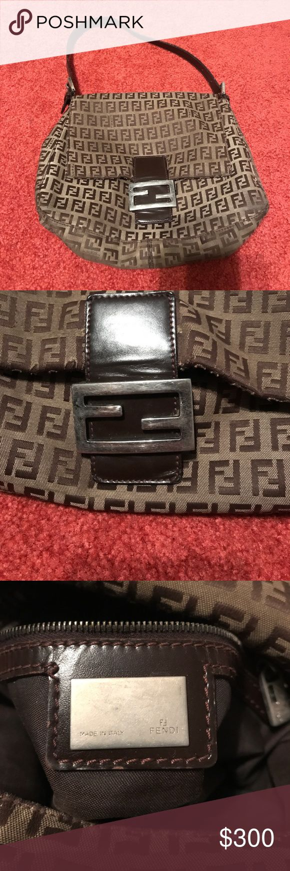 Fendi Mama Forever Bag Brown Fendi logo mama forever bag. Used. Good condition. Slight wear in strap. Normal wear and tear. Fendi Bags Shoulder Bags