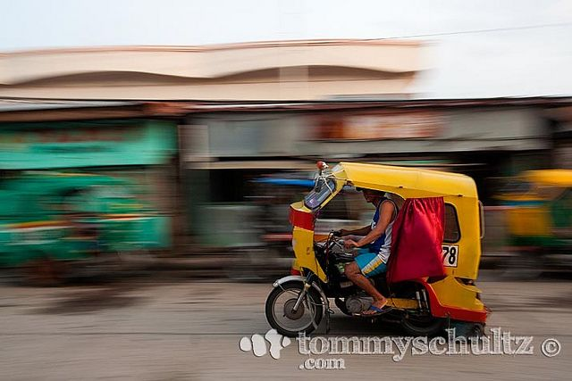 Philippine 'tricycle' pedicab speeding on a Surigao City street | Flickr - Photo Sharing!