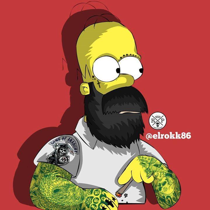 Hipster Homer Simpson