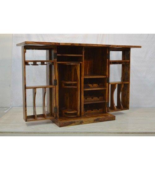 ręcznie robiony #Indyjski #drewniany #bar @ http://www.indianmeble.pl/bar-stojak-na-wino/indyjski-drewniany-bar-HS-45-WINECABINET