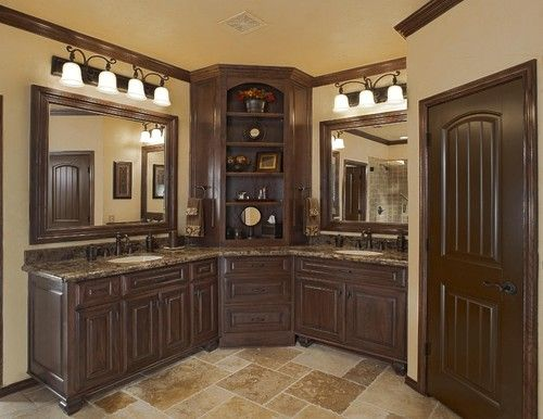 L Shaped Vanity Design Pictures Remodel Decor And Ideas For The Home Pinterest Dark