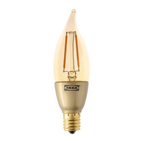 IKEA - LUNNOM, LED電球 E17 200ルーメン, , 光源にLEDを採用。白熱電球に比べて消費電力が約85%少なく、10倍長持ちします調光機能付き。必要に応じて光量を調節できます適度な明るさに調光できるので、電気代の節約にも効果的です