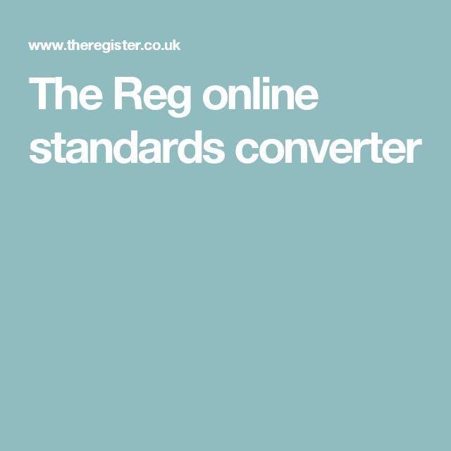 The Reg online standards converter