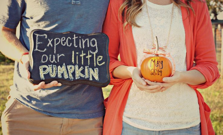 How we announced we are having a baby. Fun for Fall Announcements.