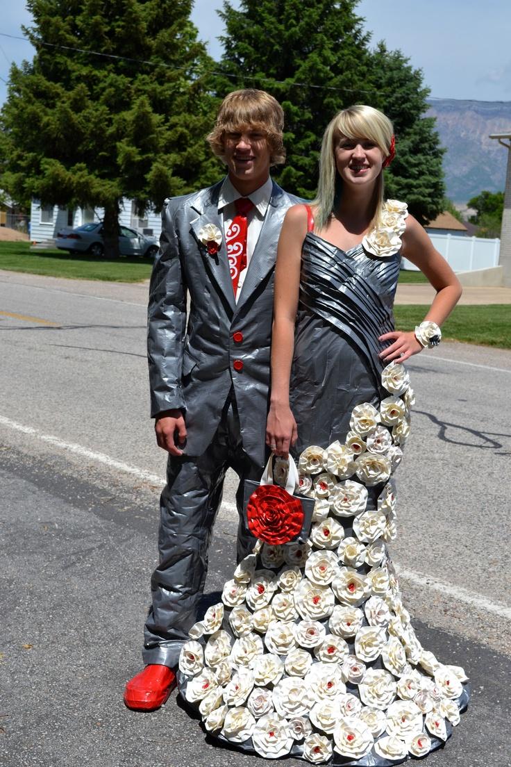 2012 Stuck at Prom finalist Sheridan & Ashton - duct tape prom