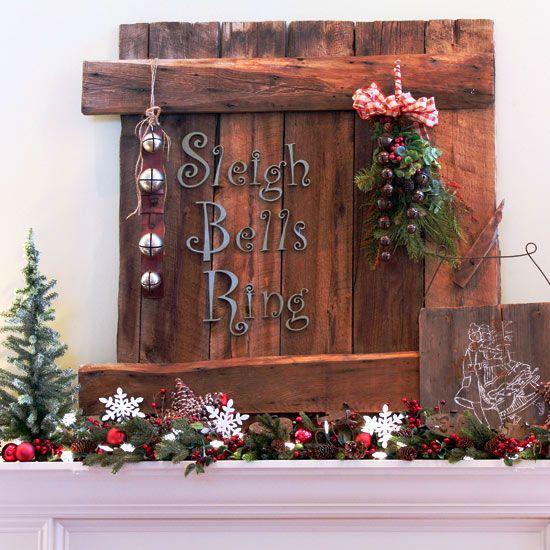 Christmas Sign Decorations: Pinkapotamus: Reclaimed Wood Christmas Sign