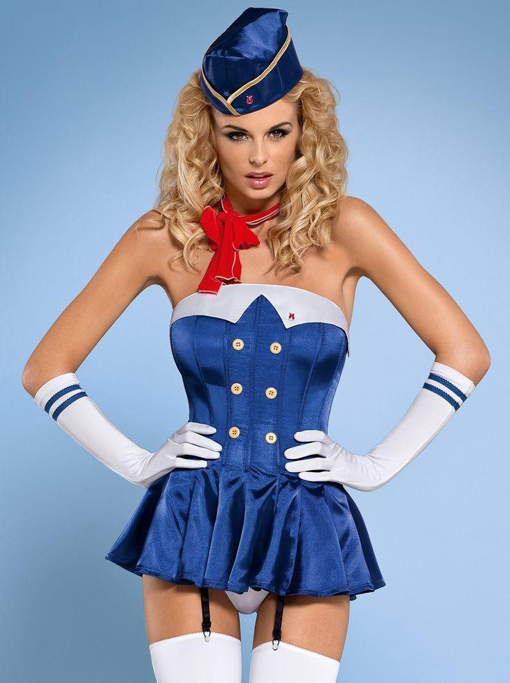 Obsessive -  Stewardess gorset kostium 6-cz.