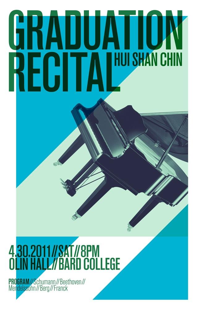 Graduation piano recital poster - Jason Kang
