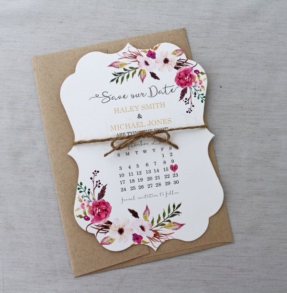 PRINTABLE, Boho Floral Save the Date Card, Rustic Wedding Save the date card, Modern save date, Floral, Shabby Chic Wedding , Boho Floral