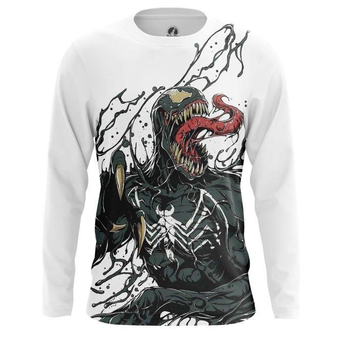 Men S Long Sleeve Venom Symbiote Web Art Mens Tshirts Sleeves Clothing Art Clothes