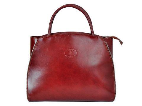 Genuine leather brown handbag | SoLime