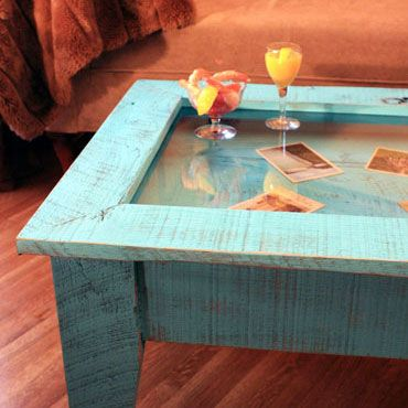 127 best table ideas images on pinterest live wood and home display coffee table with glass top rustic contemporary distressed turquoise finish handmade solutioingenieria Choice Image