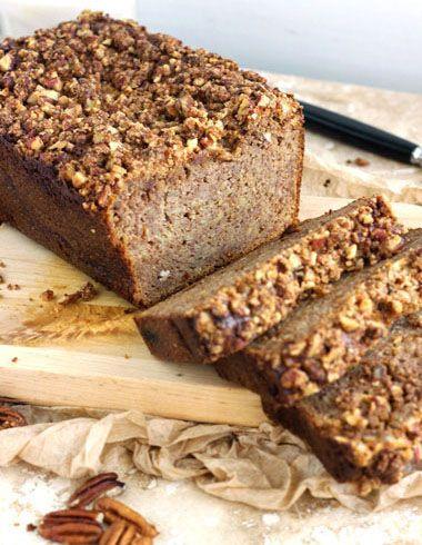 Paleo Honey and Pecan Banana Bread #glutenfree #grainfree #paleo