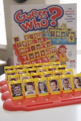 Genius! Replace the games pictures with family pictures so your child can get to know them! Love it!
