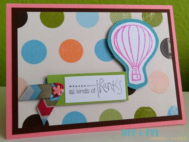 Diy Thank You Card Fyi Creatively Created more at Recipins.com