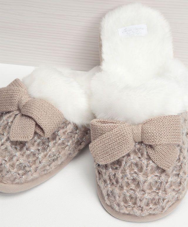 Little stripes mule slippers - OYSHO