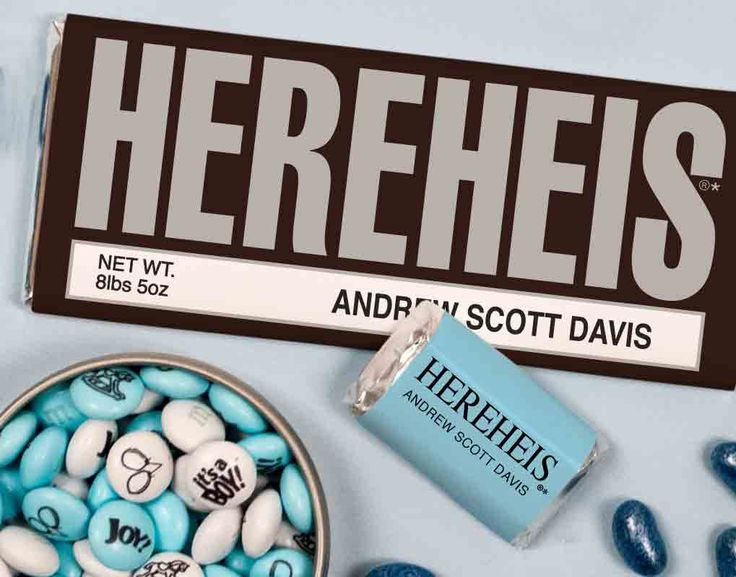 78 images about Baby Shower for Boys – Hershey Bar Birth Announcements