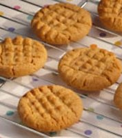 1950's Betty Crocker Peanut Butter Cookies (increase the PB to 1 cup).