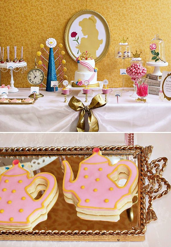 Princess Belle Inspired Beauty and the Beast Party - I am DYING over this party