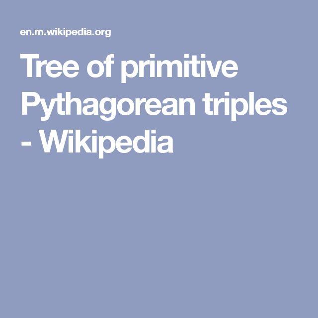 Tree of primitive Pythagorean triples - Wikipedia
