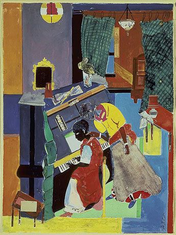 Romare Bearden, The Piano Lesson, 1983