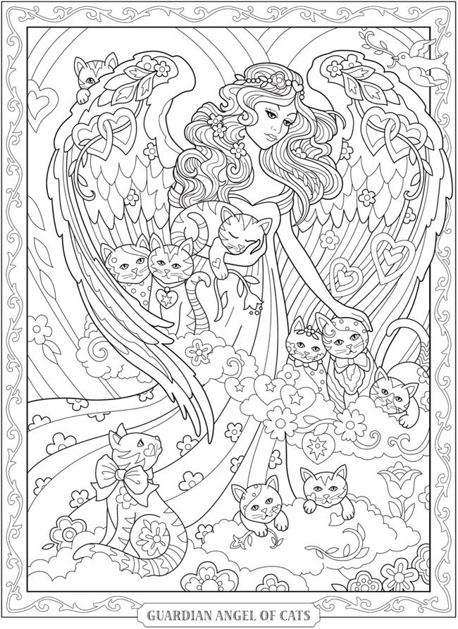 coloring book pages angels - photo#42